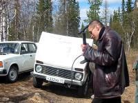 Александр Белопольский с насосом