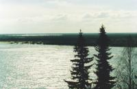 Река Печора у въезда в деревню