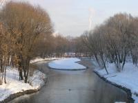 Бот.Сад. Река Яуза зимой.