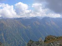 Хребты Кавказа с высоты 3000 м