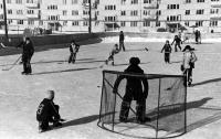 Дворовая хоккейная коробка, ул.Строителей