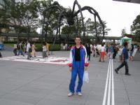 Прикольная статуя паука...