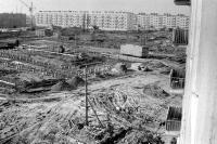 Строительство детсада. Фото с балкона Строителей 9Б