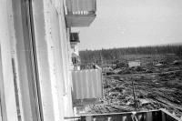 Фото с балкона Строителей 9Б