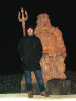 Я и Нептун. На берегу Моря. Сочи
